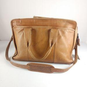 Gorgeous Vintage Leather Briefcase Laptop Bag
